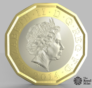 The proposed design of the new United Kingdom £1 circulating coin.