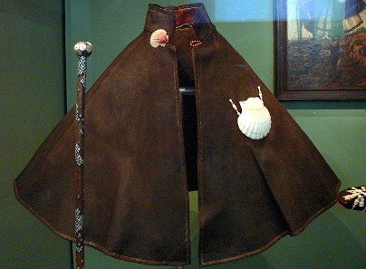 Cloak and staff (1571) of a pious pilgrim to Santiago de Compostela. Nuremberg, German National Museum. Photograph: Wolfgang Sauber / http://creativecommons.org/licenses/by-sa/3.0/deed.en