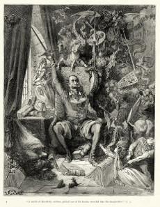 Illustration of Don Quixote by Gustave Doré (1832-1883). Source: Wikicommons.