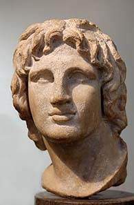 Alexander the Great. Bust in the British Museum. Photograph: Jastrow / Wikipedia.