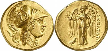 Alexander III. Gold stater, Salamis, during his lifetime. From auction Gorny & Mosch 185 (2010), 84.