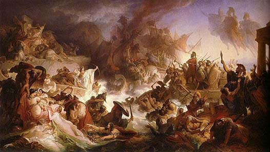 Wilhelm von Kaulbach (1805-1874), The naval Battle of Salamis in the Maximilianeum, the Bavarian Landtag.