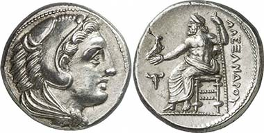Alexander III. Tetradrachm, during his lifetime, Macedonia. From auction Gorny & Mosch 186 (2010), 1252.