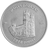 Base metal version. Hungary/ 2,000 HUF/ Silver .925/ 23.7 g/ 37 mm/ Design: ERÖSS Ildikó Mintage: 5,000.