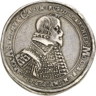 Mainz. Anselm Casimir Wamboldt von Umstadt (1629-1647). Thick triple reichsthaler 1639, Mainz. From Horn Collection, Meißen. Of great rarity. Very fine. Estimate: 20,000 euros.