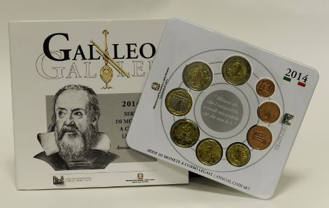 The Italian 2014 coin set.