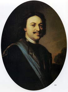 Carel de Moor, Portrait of Peter the Great, 1717.
