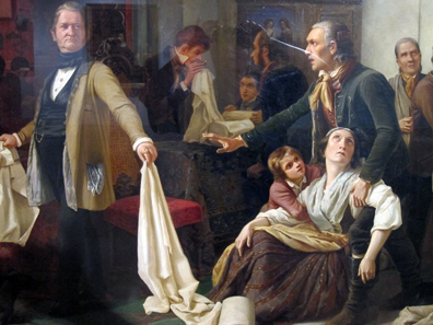 Silesian weavers. Painting by Carl Wilhelm Hübner, 1844. Photo: KW.