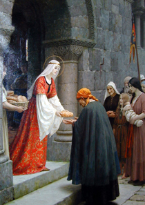Edmund Leighton, The Charity of St. Elizabeth of Hungary.