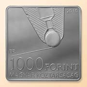 Hungary. László Jószef Biro; face value: 1000 HUF; material: CuNi; weight: 14 g; 28,43x28,43 mm; date of issue: September 29th, 2010; designer: György Szabo; mintage: 10.000 uncirculated; 10.000 proof.