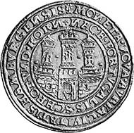 Hamburg. Portugaleser of 10 Ducats (1553-1562). Friedberg 1091. From auction Leu Numismatik AG, Zurich 92 (2004), 281.