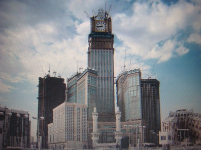 Instead of the Ajyad Fortress visitors will see the Abraj Al Bait Towers with a clock tower imitating London's Big Ben. Photo: King Eliot / http://creativecommons.org/licenses/by-sa/3.0