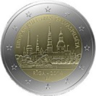 Latvia/ 8.5 g/ 25.75 mm/ Designer: Henrihs Vorkals and Janis Strupulis/ Mintage: 1,000,000, plus 5,000 (BU).