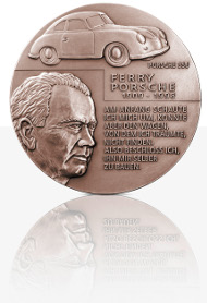 The new Porsche medal high relief version in bronze.