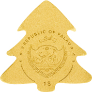 Palau, 1 Dollar, Gold .9999. 0,5 g, 11 mm, BU. Mintage: 15.000 pieces.