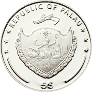 Palau, 5 Dollar, 2015, Silver .925, 1 oz. 38,61 mm, Proof. Mintage: 2015 pieces.
