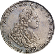After the restitution as Polish King: Frederick August I, 1694-1733. Reichsthaler 1728, Dresden. Schnee 1015. From the upcoming Künker auction 258 on January 29, 2015. The piece has been estimated at 4,000 euros.