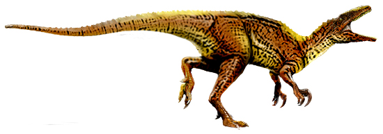 Artistic representations of Australovenator wintonensis. Artwork: T. Tischler, Australian Age of Dinosaurs Museum of Natural History /http://creativecommons.org/licenses/by/2.5/deed.en.