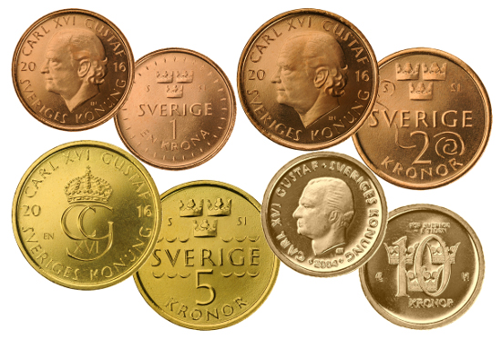 Sweden's new coins.