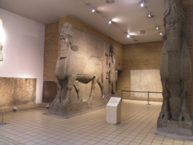 In Mosul similar monuments were destroyed. This one is safe - in the British Museum in London.