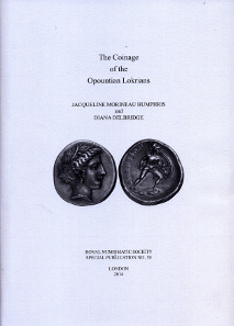 Jacqueline Morineau Humphris, Diana Delbridge, The Coinage of the Opountian Lokrians. Spink, London, 2014. 261 p., 22 x 30,4 cm, fig. in black and white; 61 pl., Hardcover. ISBN: 0-901405-74-4. £60.