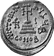 Heraklius, 610-641, with his sons Heraklius Constantin and Heraklonas, 632-641. Solidus, Constantinople, 636/7. Sear 761. From auction sale Numismatica Genevensis 2 (2002), 181.