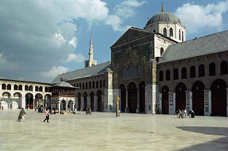 He initiated the building of the Umayyad Mosque in Damascus as well. Photograph: Jerzy Strzelecki / Wikipedia.