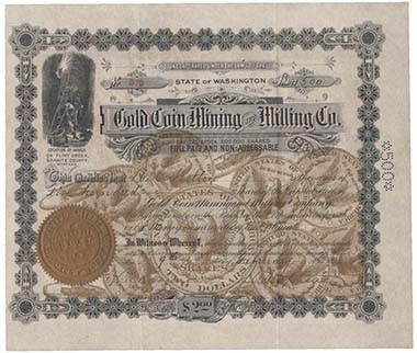In 1898, you hat to pay only 2 bucks to become shareholder of the Gold Coin Minting & Milling Co. / Montana.