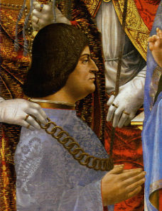 Francesco Napoletano, portrait of Ludovico Sforza, around 1494 (detail from the Sforza altar). Source: Wikicommons.