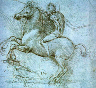 Da Vinci's sketch for the Sforza monument, ca. 1488-1489. Source: Wikicommons.