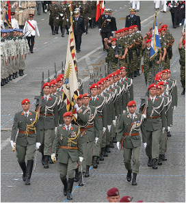 Austrian Guard Battalion at a parade in Paris. Source: Wikipedia.