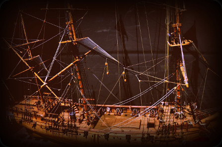 Model of the Whydah. Photograph: jjsala / http://creativecommons.org/licenses/by/2.0/deed.en