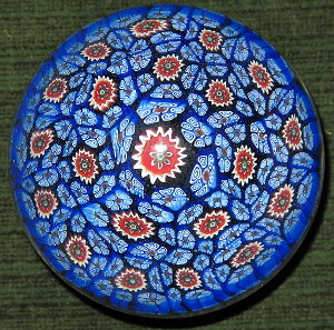 Paper weight made of Millefiori glass. Source: Wikipedia.