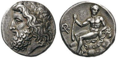 44: Arkadian League. Megalopolis. Summer 363 - Spring 362 BC. Stater. BCD Peloponnesos 1512. BMC 48. D. Gerin,