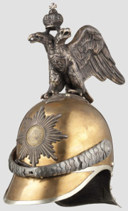 Russian helmet for the Life Guard Cuirassier Regiment, 1910. Hammer Price: 18,500 Euros.