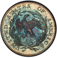 1005: 1796 Draped Bust Half Dime. Logan McCloskey-1. Rarity-3. LIKERTY. Mint State-67+ (PCGS). Estimate: $225,000-$400,000. Price Realized: $411,250.