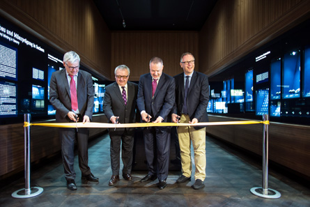 Ribbon-cutting, on the occasion of the inauguration of the permanent exhibition of the Coin Cabinet on June 6, 2015. Photo: Oliver Killig. Copyright: Staatliche Kunstsammlungen Dresden.