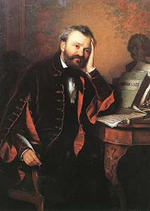 Ferenc Erkel, painting by Györgyi (Giergl) Alajos (1821-1863) / Wikipedia.