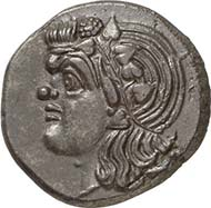 No. 90: PANTICAPAEUM (Tauric Chersonnes). Tridrachm, c. 325-300. SNG BM 879. Extremely fine. Estimate: 3,000 Euros. Realized price: 14,950 Euros.