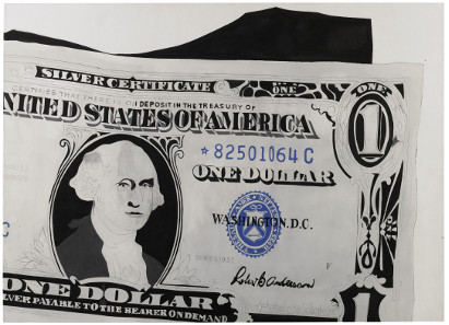 Andy Warhol, Silver Certificate, 1962. Acrylic on canvas, 132 x 183 cm. £13,000,000-18,000,000. © Sotheby's