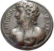 Fig. 1: Cast Renaissance medal showing the bust of Antinoos.