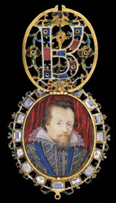 The Lyte Jewel. Enamelled gold set with diamonds, 1610. The locket contains a portrait by Nicholas Hilliard of James VI and I of Scotland and England. The Waddesdon Bequest. © The Trustees of the British Museum.