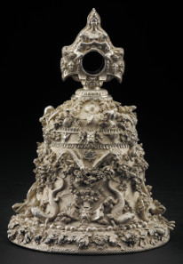 The 'Cellini Bell'. Silver, mid 1500s. The insects, animals and plants on this bell were cast from life. The Waddesdon Bequest. © The Trustees of the British Museum.