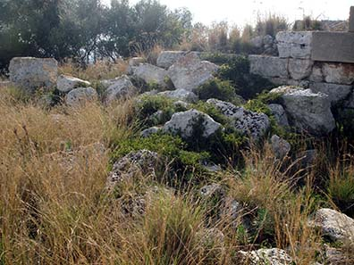 Remains of the city wall built under Dionysius. Photograph: Giovanni Dall'Orto / Wikipedia.