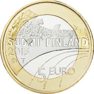 Finland / 5 euros / 9.8 g / 27.25 mm / Design: Nora Tapper / Mintage: 50,000 (UNC), 10,000 (proof).