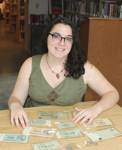 Marisa Natale '17 received support from The Belfer Fund and the LEEP Center to catalogue the money and prepare it for use by faculty and students.