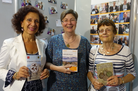 Women power in numismatics - from left to right: Maria Caccamo Caltabiano, Congress organizer, Ursula Kampmann and Cécile Morrisson, Grande Dame of Byzantine numismatics. Photograph: Björn Schöpe.