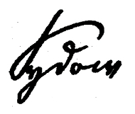 Signature of Friedrich Hermann Sydow.