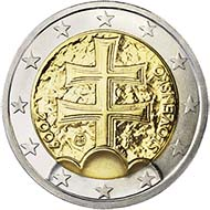 Best Trade: Slovakia - 2 Euro, bi-metallic, First Year of Euro Issuance