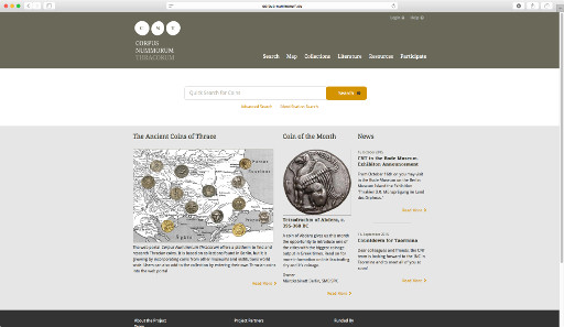 The new web portal of the Corpus Nummorum Thracorum project.